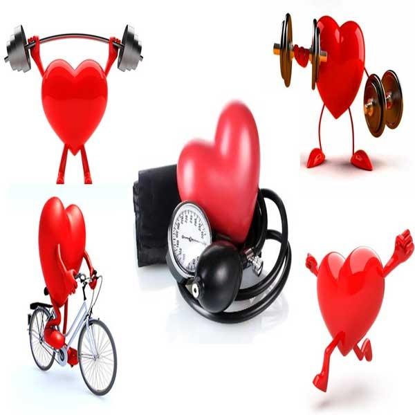 قلبی در حال ورزش